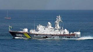 Боевой корабль Украины у берегов Крыма