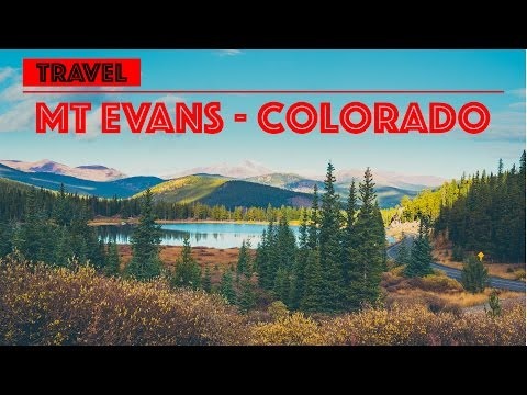 I fly with my drone over the Mt Evans & Echo Lake in Colorado - USA