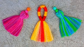DIY Tutorial How to Make a Tassel - Tassels Tassle Tassles Borlas - Easy Simple