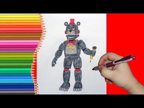 How to draw Lefty, FNaF, Как нарисовать Лефти, ФНаФ