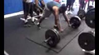Courtney Sims of americus sumter power cleans 260