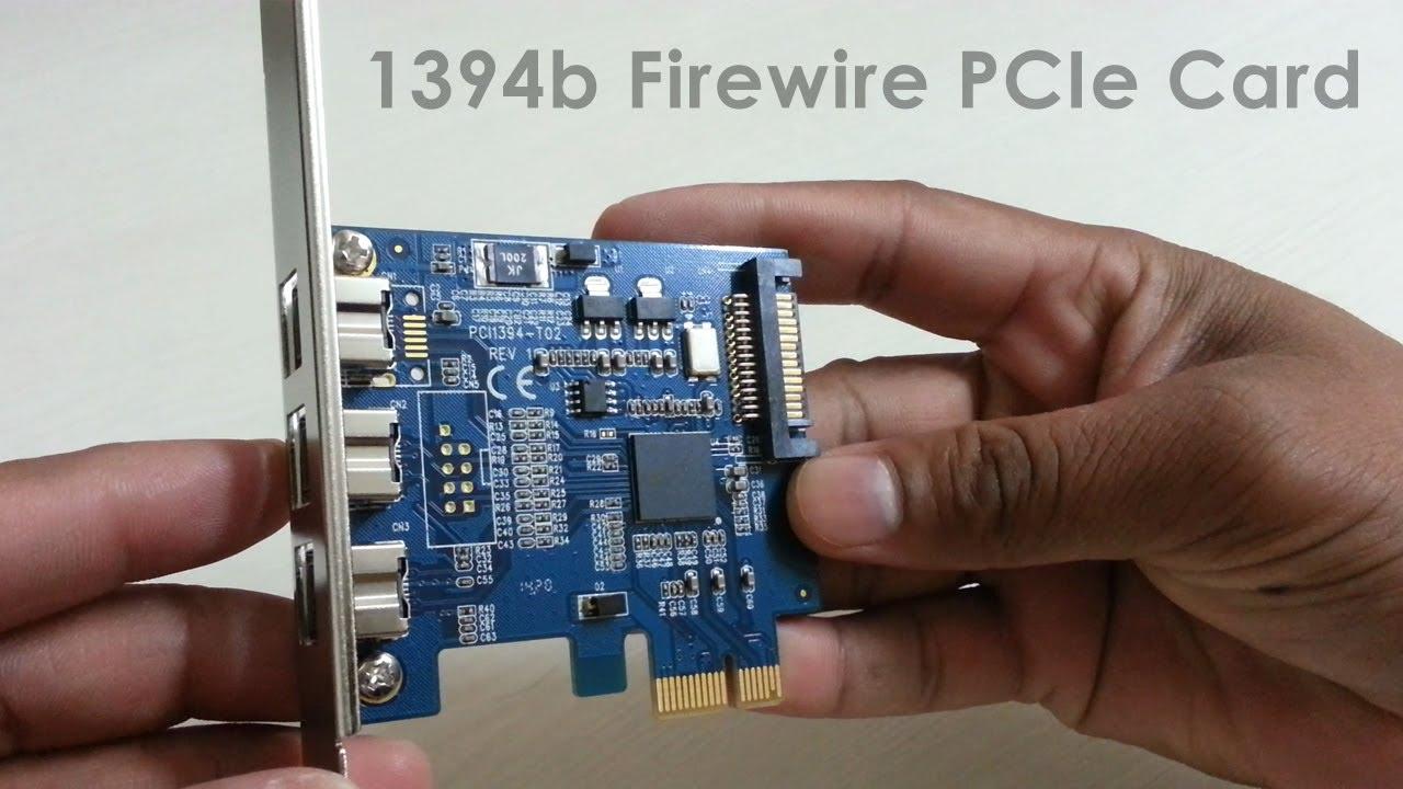 1394b Firewire PCIe Card 3 External Firewire 800 IEEE Port PCI ...