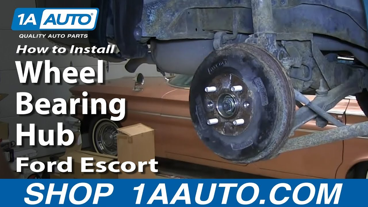 How to install fix noisy worn out rear wheel bearing hub 1998 03 ford escort zx2 youtube