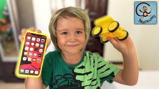 Дети и Игрушки. Превращаем iPhone 11 Pro Max в детскую машинку. МанкиТаим
