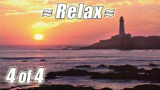 RELAXING VIDEO #4 Best WATERFALLS & BEACHES of CALIFORNIA Ocean wave sounds for relax studying