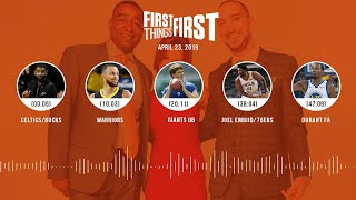 First Things First audio podcast (4.23.19)Cris Carter, Nick Wright, Jenna Wolfe | FIRST THINGS FIRST