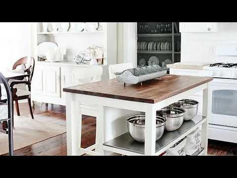 50+ Inspirations Vintage Farmhouse Style Kitchen Island