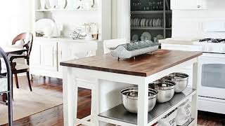 50+ Inspirations Vintage Farmhouse Style Kitchen Island