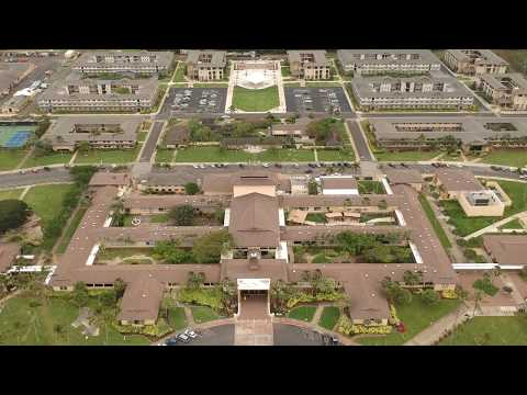 Drone in Laie, Hawaii (BYUH Campus, Temple View Apartments etc)