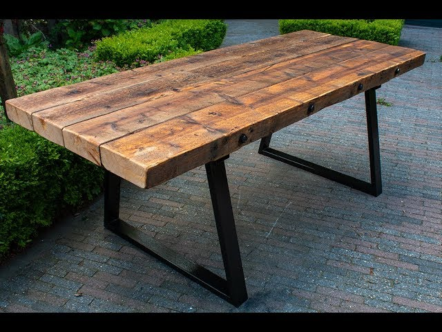 How To Attach Metal Legs A Wood Table Top You - How To Attach Metal Legs Wood Table