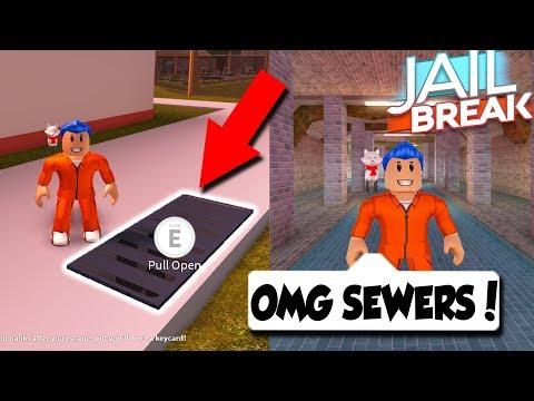 UNDERGROUND SEWER ESCAPE UPDATE IN JAILBREAK! *EPIC* (Roblox Jailbreak)