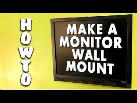 How To Make A Free Monitor Screen Wall Mount Hd Youtube