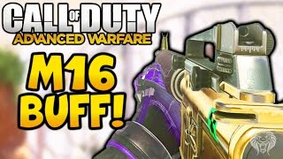 Advanced Warfare: M16 BUFF! New & Improved M16 Legendary War Pig Gameplay (Call of Duty AW Patch)