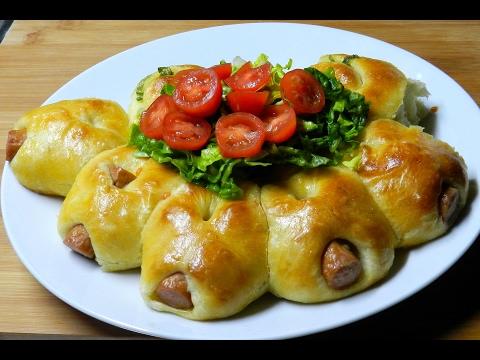 SAUSAGES BREAD No-Knead Soft Savory Bread Idea