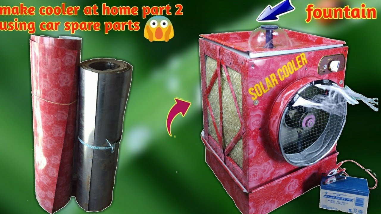 How to make 12v | Dc cooler at Home part 2| From car spare parts Easy  tricks 2018