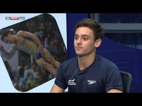 Sky News Arabia Interview With Tom Daley - 2015