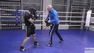 Бокс: неожиданный боковой с ложным замахом