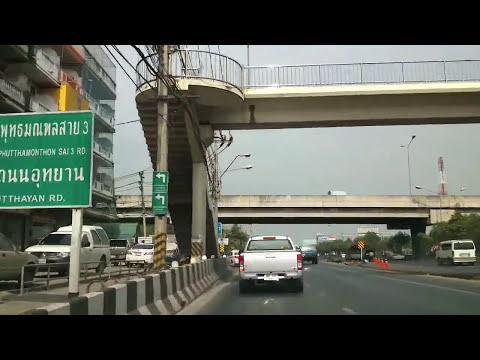 Driving in Bangkok 05 - From Vibhavadi Rangsit to Phutthamonthon