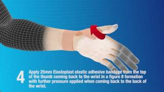 Elastoplast How to strap and support the thumb