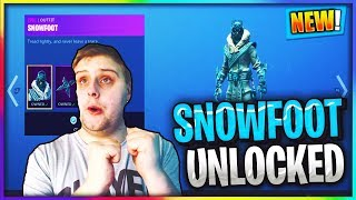 BUYING THE SNOWFOOT SKIN IN FORTNITE BATTLE ROYALE