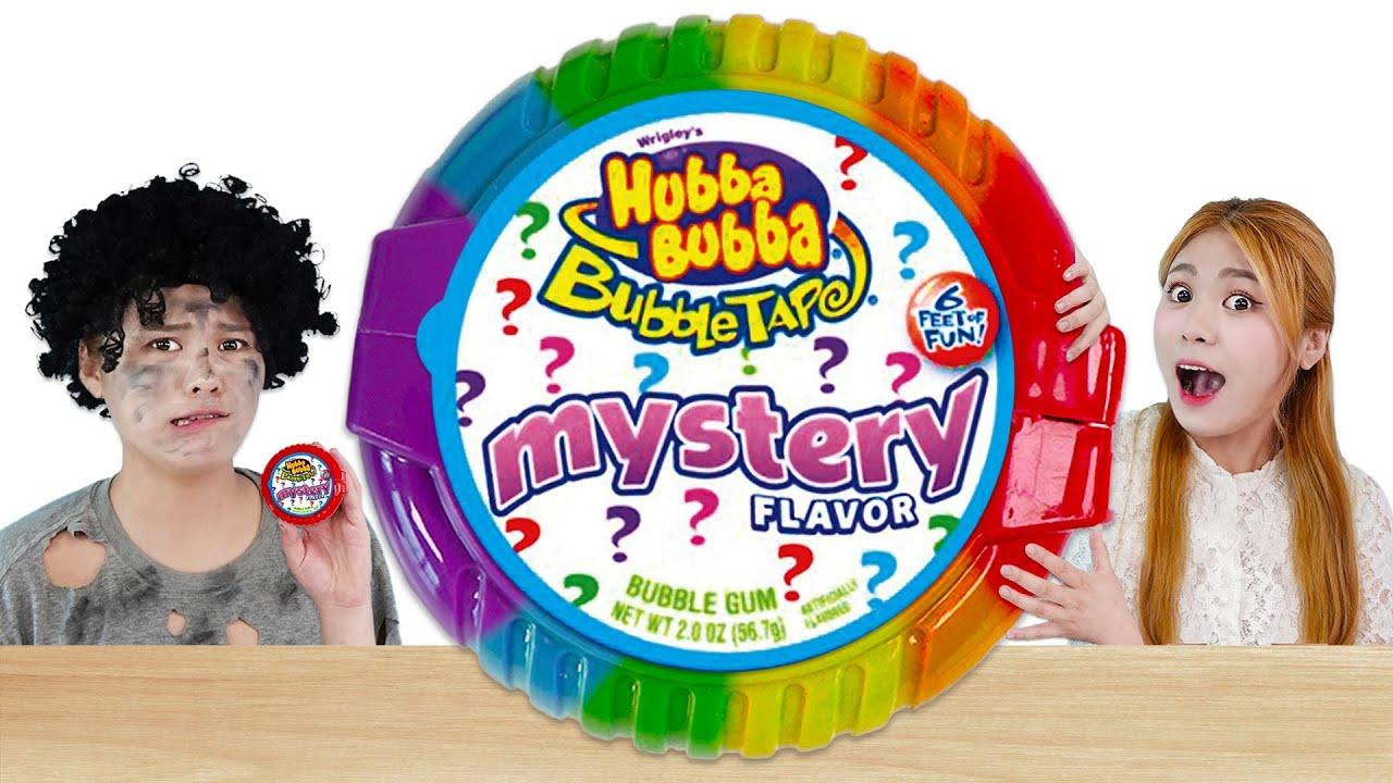 Download Bubble Gum Blowing Challenge! 하이유의 풍선껌 대왕 후바부바 챌린지 GIANT Hubba Bubba Crazy Food Battle | HIU 하이유