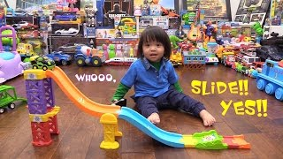 Toy Cars for Toddlers & Kids: Vtech Go Go Smart Wheels Launch & Play Raceway Playtime