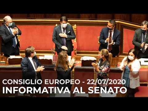 Esiti del Consiglio europeo straordinario: informativa di Conte al Senato