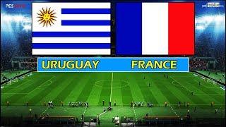 PES 2018   URUGUAY vs FRANCE   Full Match & Amazing Goals & Penalty Shootout   CAVANI vs MBAPPE