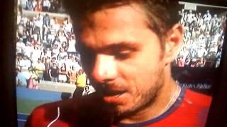 Stan Wawrinka drops F bomb @ US Open