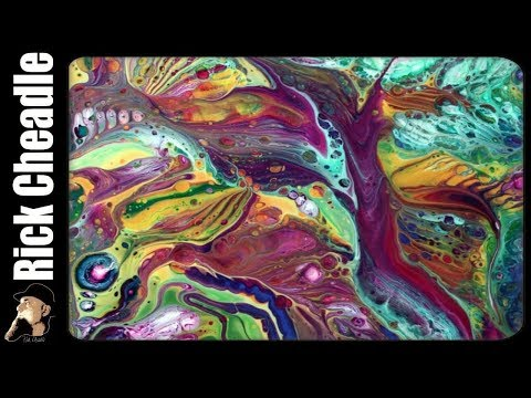 Acrylic Pour by Rick Cheadle using Counter Culture DIY Resin and Chroma Color Paints