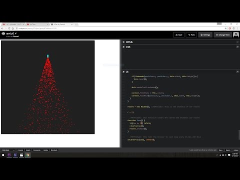 How to program an animated rocket in JavaScript