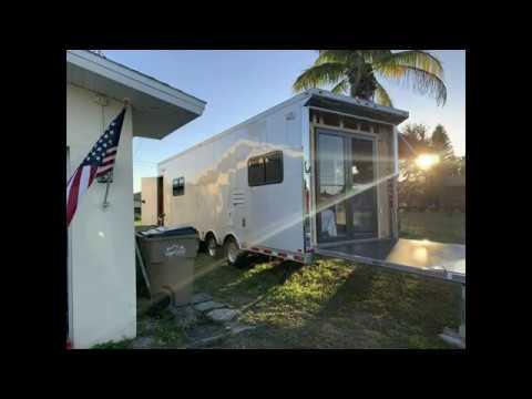 RV Trailer Build #151 - Installed Double Anderson 3000 Series Bronze Storm Doors