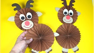 How to Make a Paper Reindeer | Christmas Craft for Kids