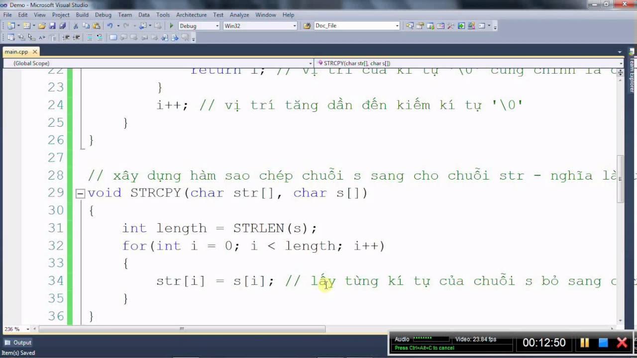 [Lập trình C/C++] Xây dựng hàm strcpy – Sao chép chuỗi