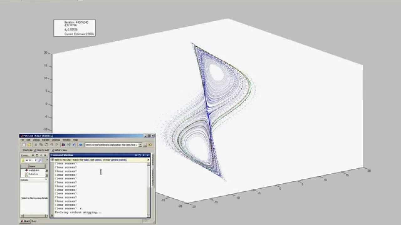 Lyapunov exponent estimation -- Matlab version of algorithm by Wolf et al