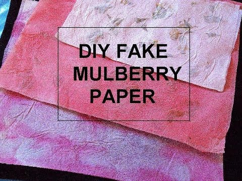 Diy Fake Mulberry Paper Make Faux Mulberry Paper With Glue And