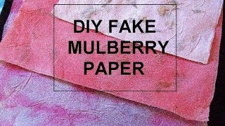 Diy Fake Mulberry Paper, Make Faux Mulberry Paper With Glue And Paper Towels