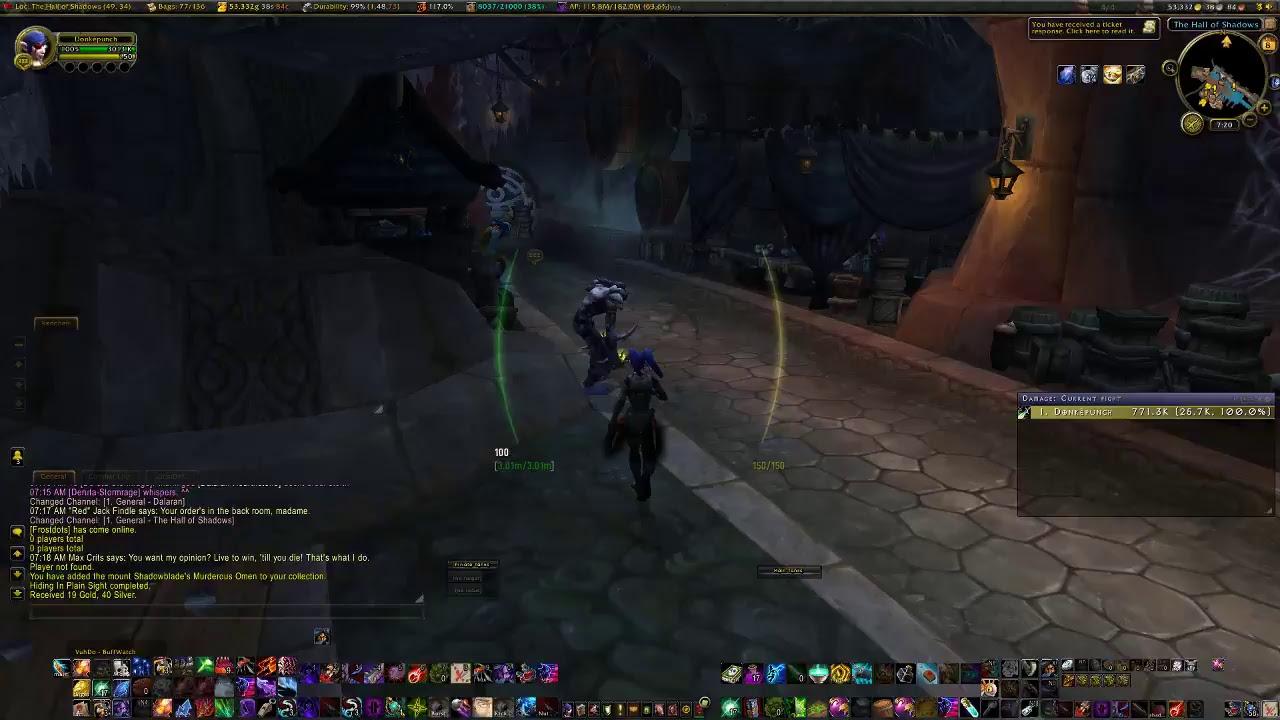 Boomken76 Live Wow Stream Rogue Class Mount Quest Youtube