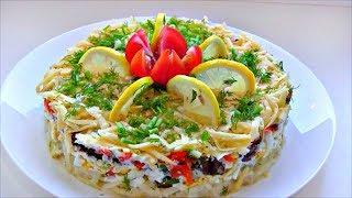"""Салат """" Балтика """" / Простой и вкусный салат со шпротами"""