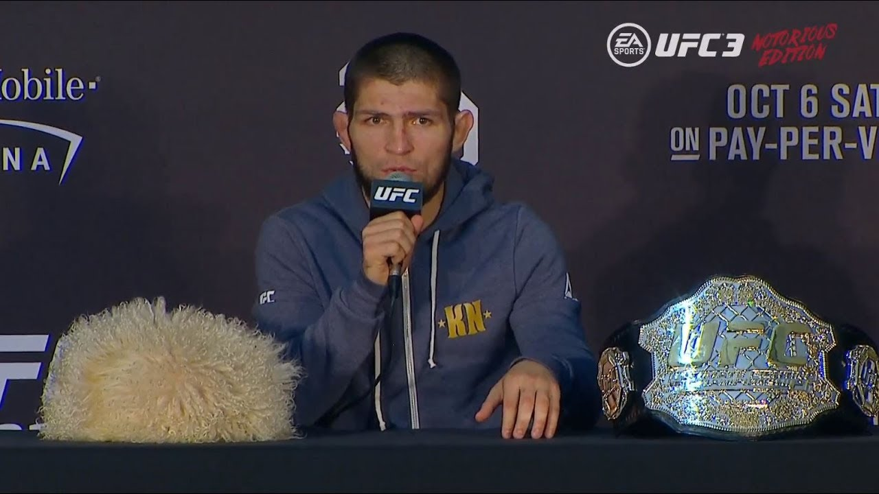 Press conference and the battle of views of Nurmagomedov and McGregor 24Warez.Ru