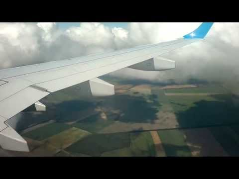 Ukraine International Airlines - Landing in Kiev Boryspil from Moscow (HD)