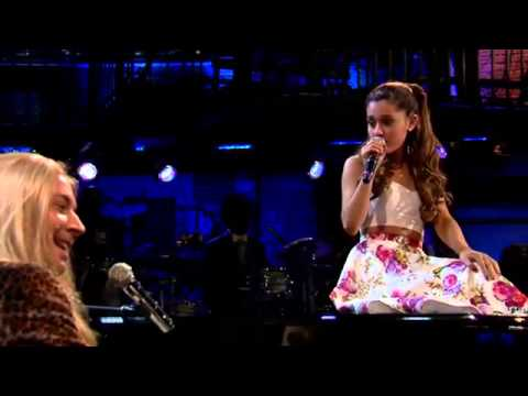 Jimmy Fallon & Ariana Grande Sing Broadway Versions of Rap Songs