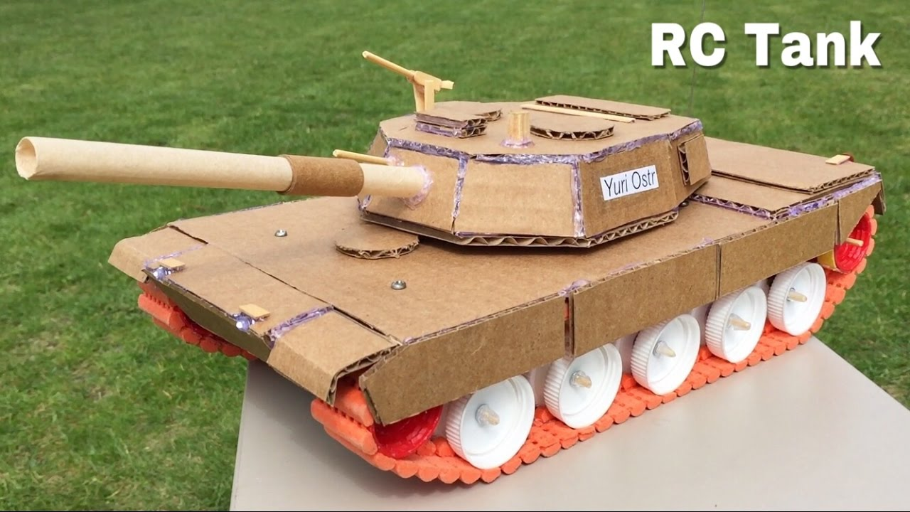 How to Make a Tank (Electric Car) Out of Cardboard ...
