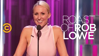 roast of rob lowe nikki glaser jewel s notorious smile