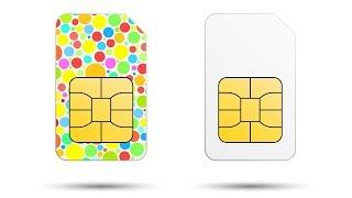 рисование SIM карты в иллюстраторе и создание тени под ней