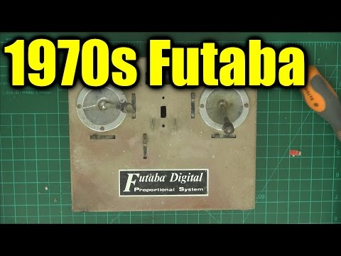 Futaba 5-channel radio control transmitter from the 1970s