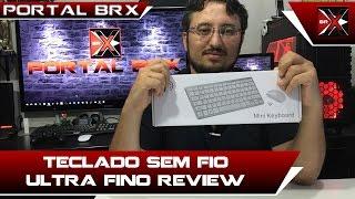 teclado ultra fino e sem fio review portal brx
