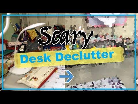 Desk Declutter + Desk Tour