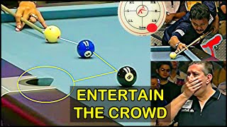 "Efren Reyes challenges ""The TORNADO"" Tony Drago 