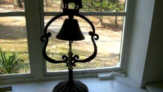 Vintage Iron Dinner Bell Cow Decor Table Bell Cowbell FOR SALE